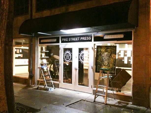 print shop construction seattle vinyl letterpress