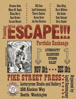escape letterpress print exchange seattle portfolio