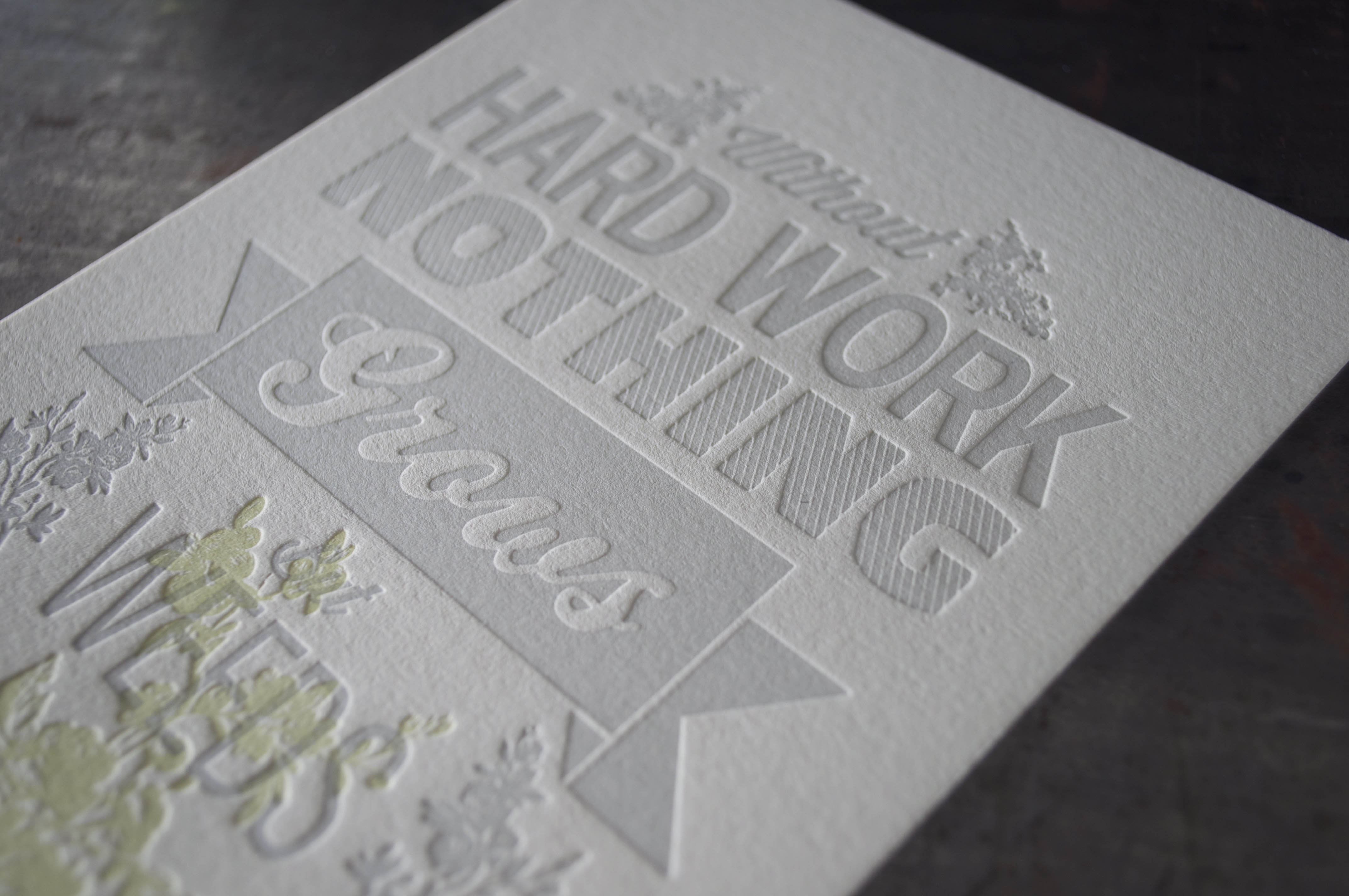 custom letterpress quote