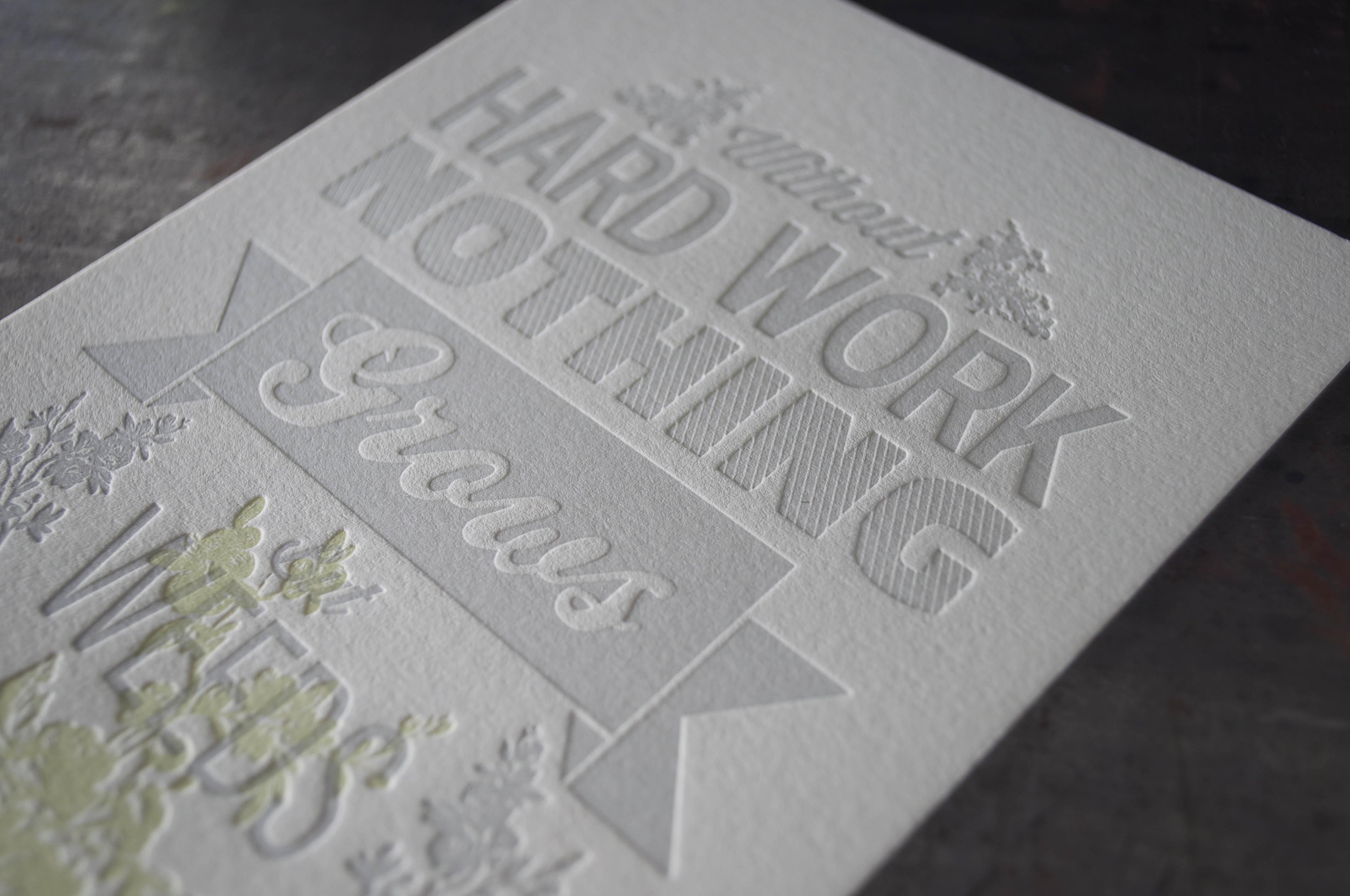 custom letterpress quote