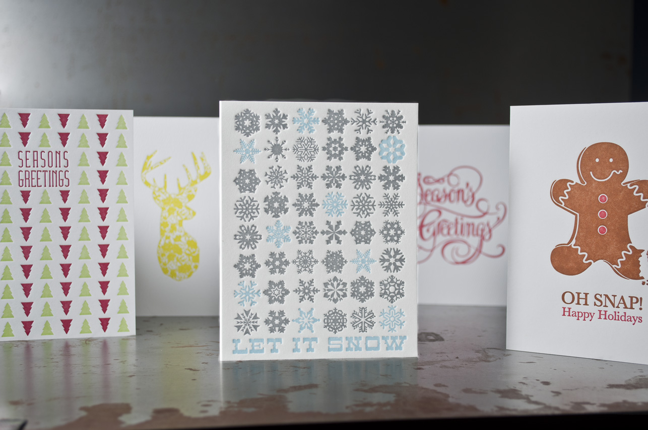 holiday letterpress greeting card