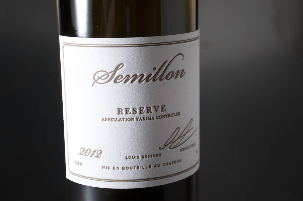 wine letterpress wine label