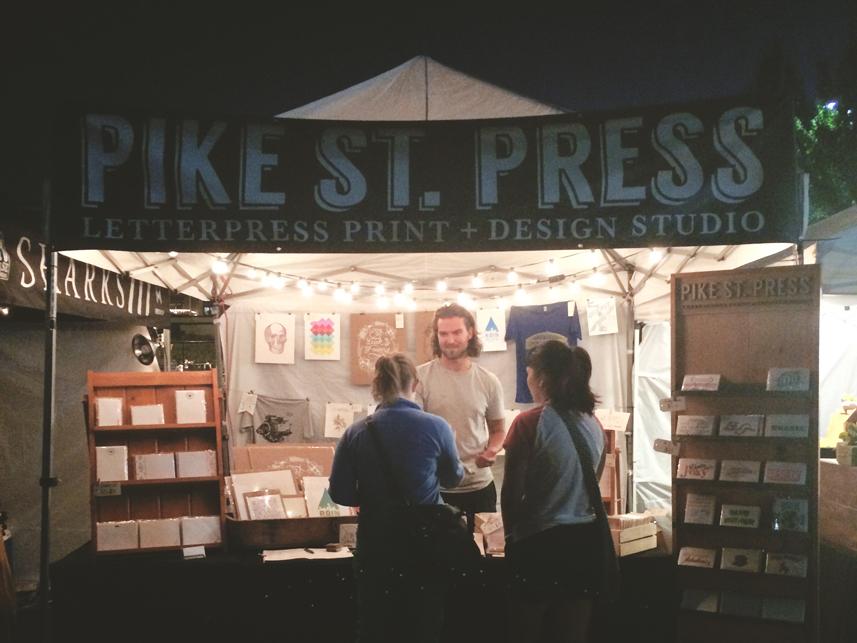 Seattle festival letterpress stationary
