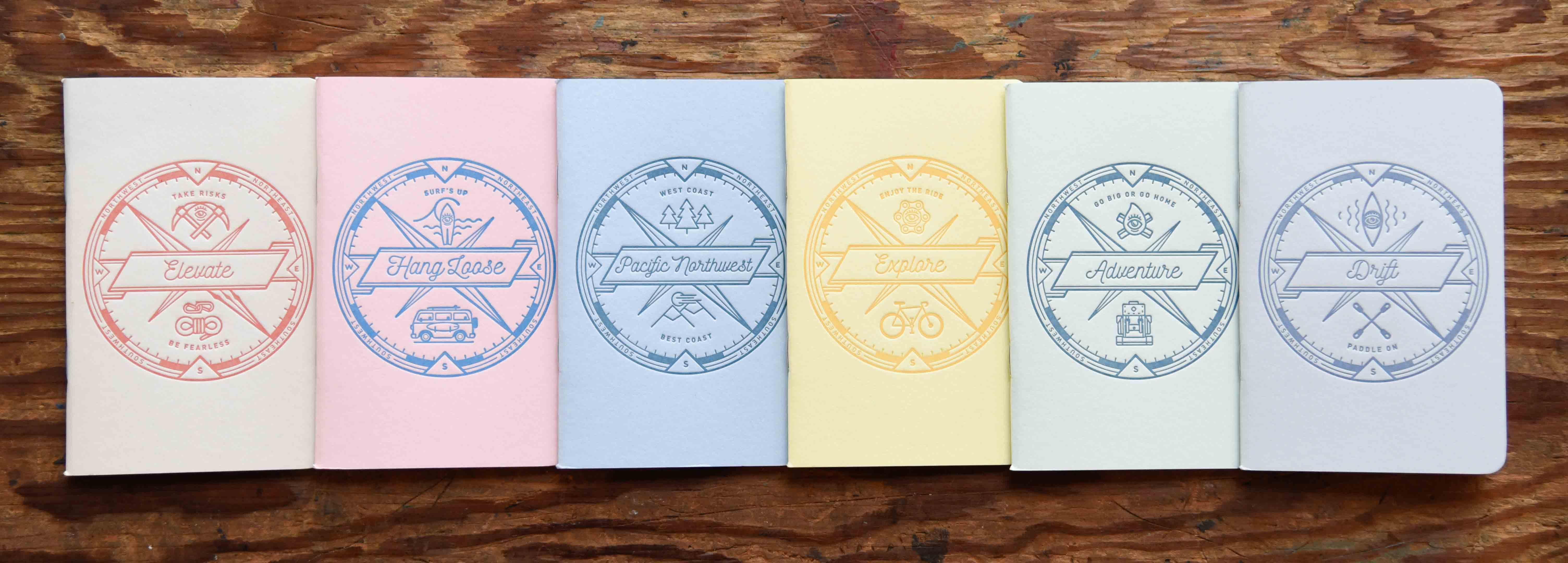 custom letterpress notebooks