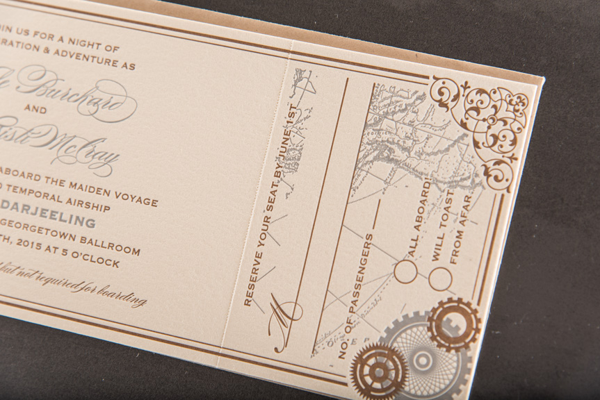custom wedding invitation design printing seattle georgetown ballroom