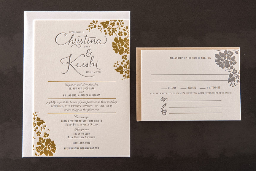 foil printing seattle invitations pike street press