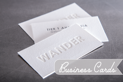 featured in - Letterpress Business Cards