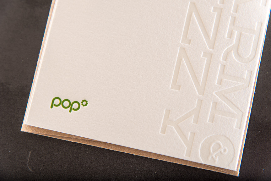 pop agency greeting cards blind press letterpress printing holiday card