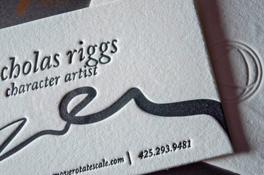 Artist-Business-Cards-Seattle-letterpress-bleed deboss printing