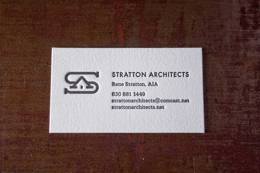 architects-business-card letterpress printing print seattle custom logo design