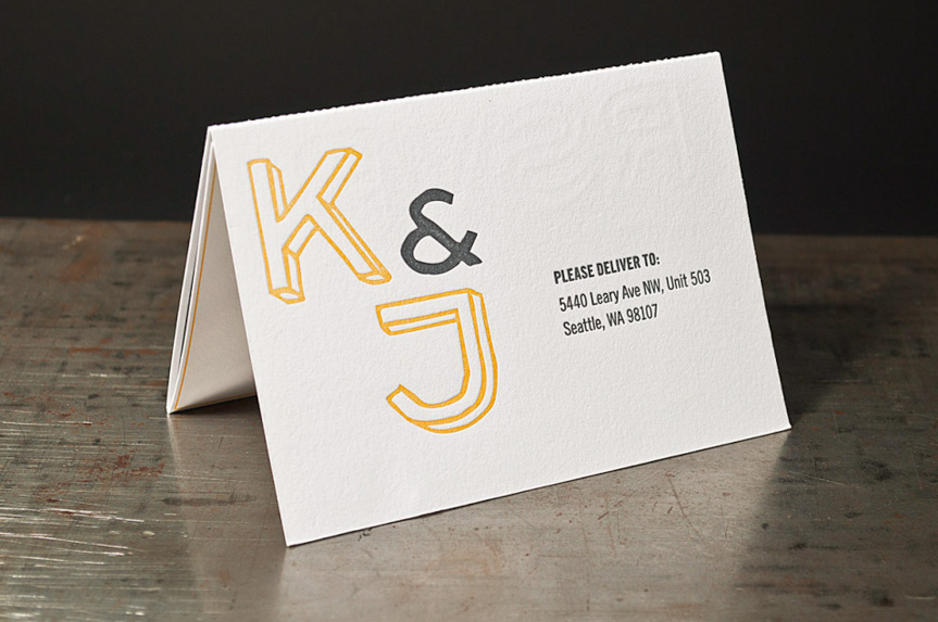 folded wedding invitation printing seattle