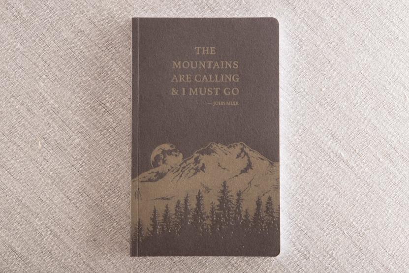 john muir notebook gold on brown letterpress printing seattle print pike street press