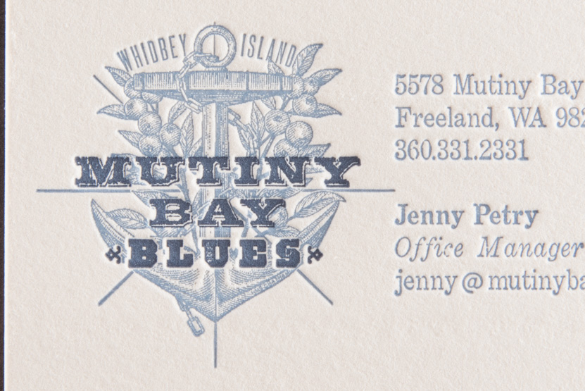 logo pressed seattle business card printing pike street press