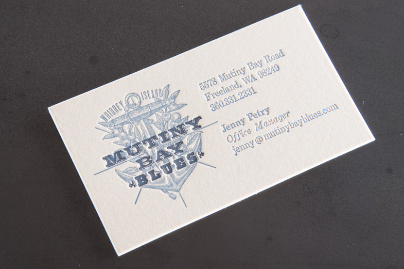 mutiny bay business cards letterpress printing engraving seattle pike street press