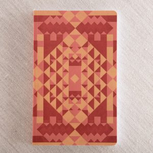 pattern letterpress notebook