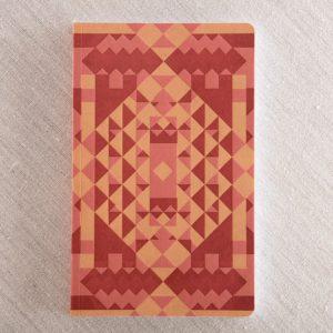 pattern letterpress notebook