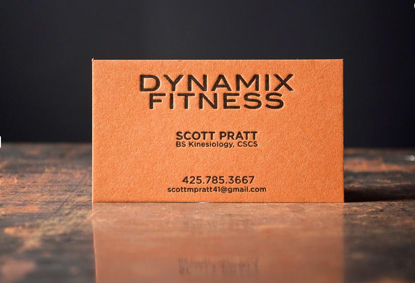 orange on black business cards letterpress gym cards fitness crossfit