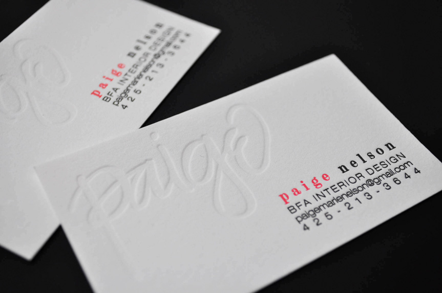 pressed business cards custom design seattle printing