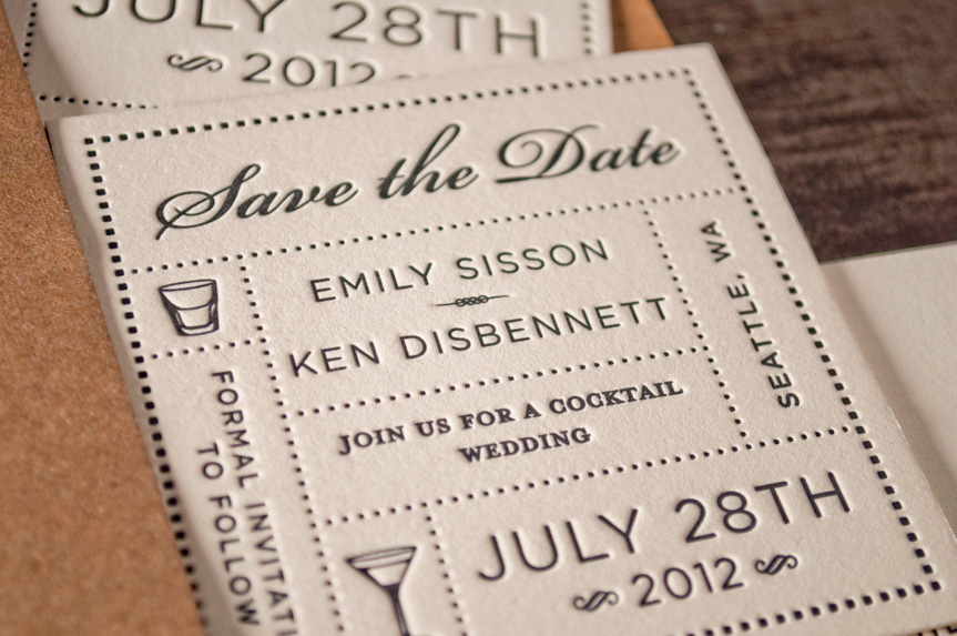 save the date design coaster printing seattle designers logo print