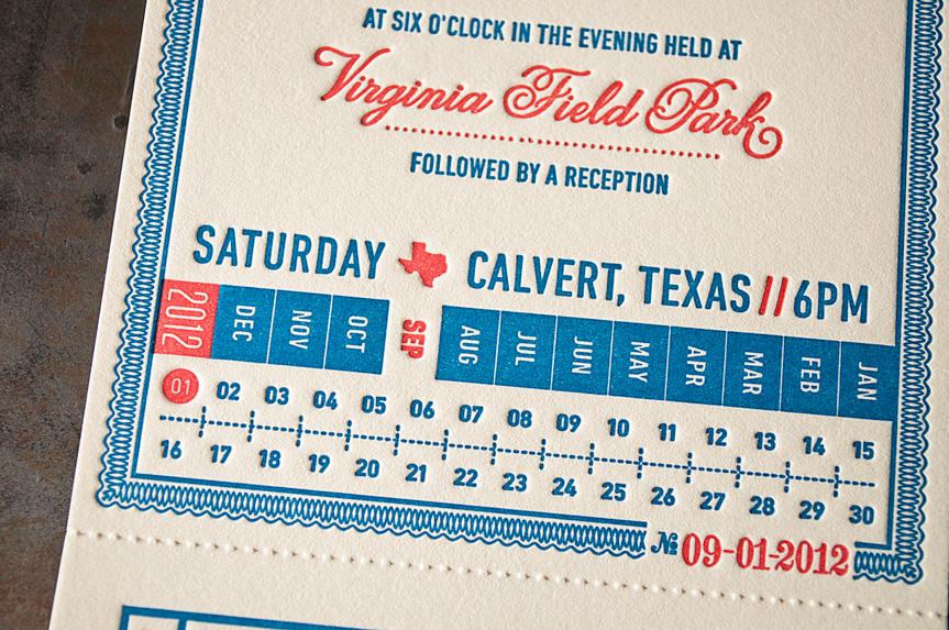 vintage ticket invitation printed letterpress seattle