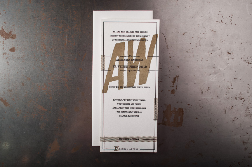 Custom wedding announcments seattle letterpress printers (1 of 3)