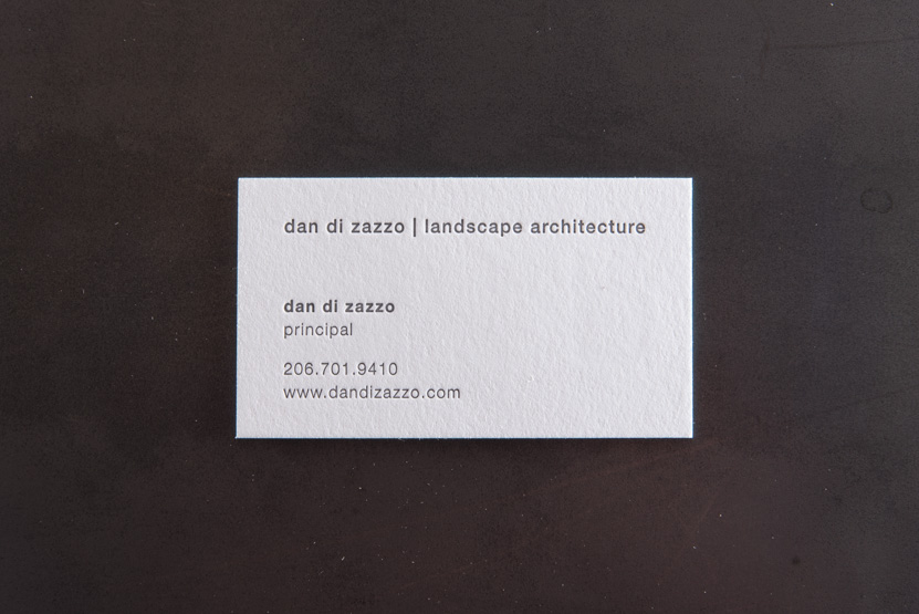 architecture landscape business cards seattle letterpressed