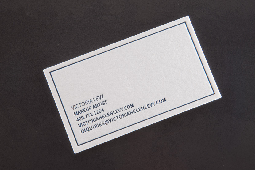Levy cards pike street press business card printing seattle letterpress artist cards clean thick colourmoves