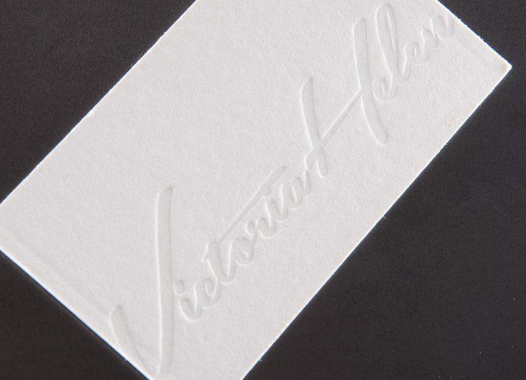 white press letterpress business card