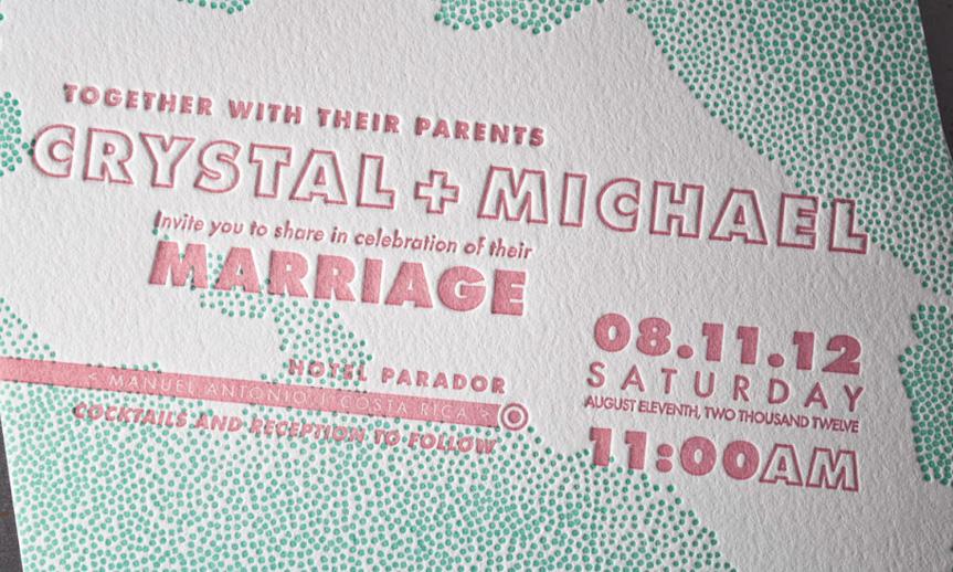 costa rica wedding invitation design island themed announcements
