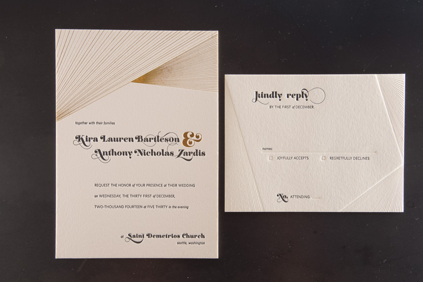 custom foil invitations seattle