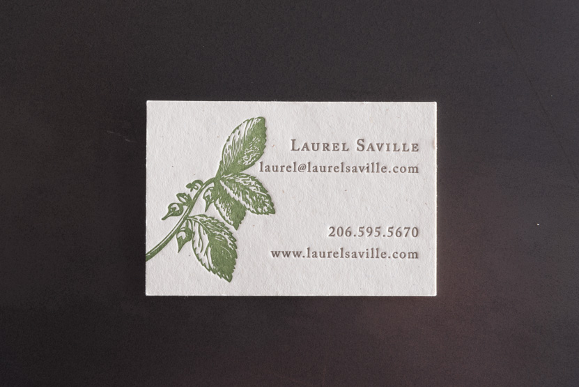 custom letterpress business card printing kraft paper