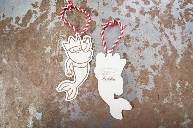custom letterpress die cut ornament printing design seattle tag
