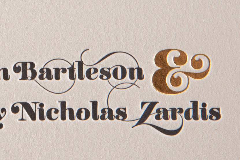 foil ampersand invitation printing seattle