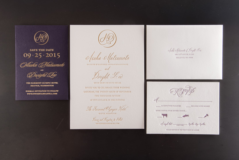 foil invitation printing seattle designers printer print company invitaitons