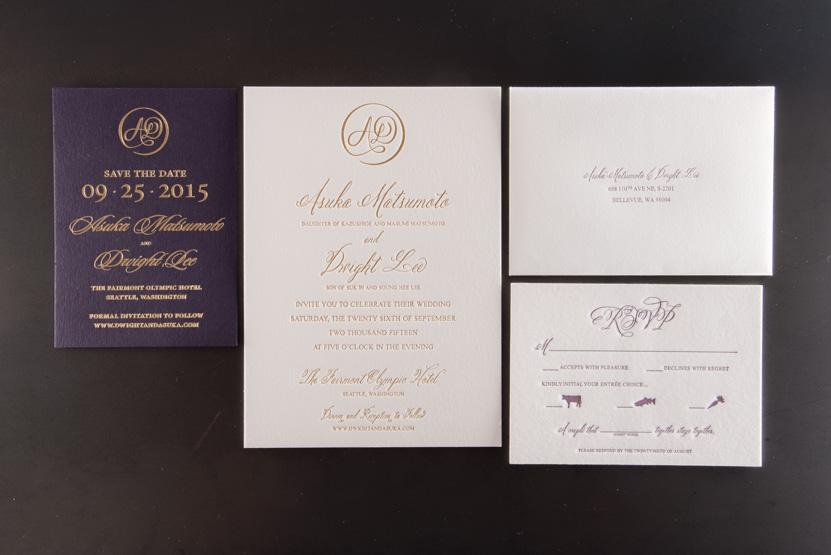 foil invitation printing seattle designers printer print company invitaitons