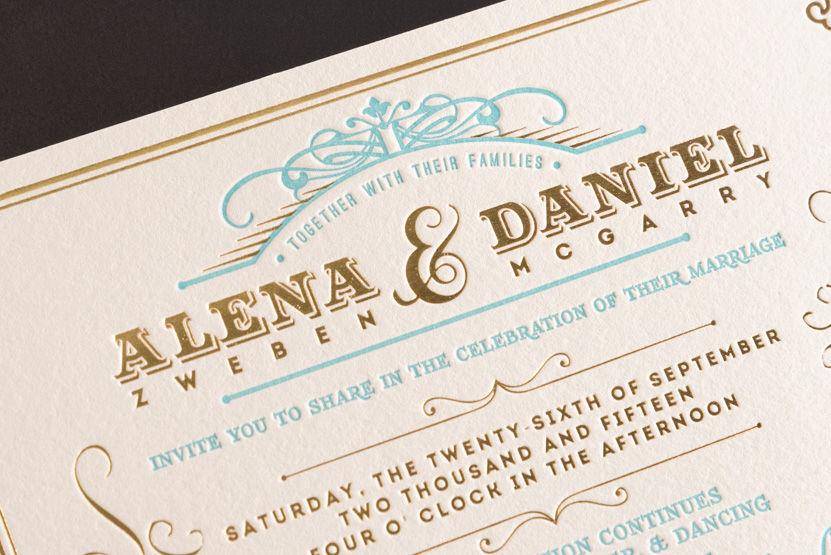 gold foil invitations and letterpress printing seattle hot foiling pike street press