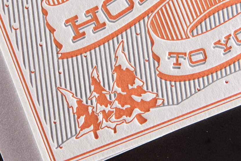 holiday greeting cards custom seatttle letterpress printing companies