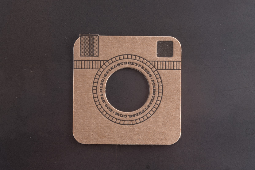 instagram business card die cut social card