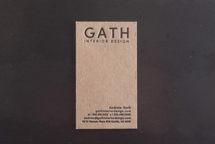 interior design business cards letterpress printing