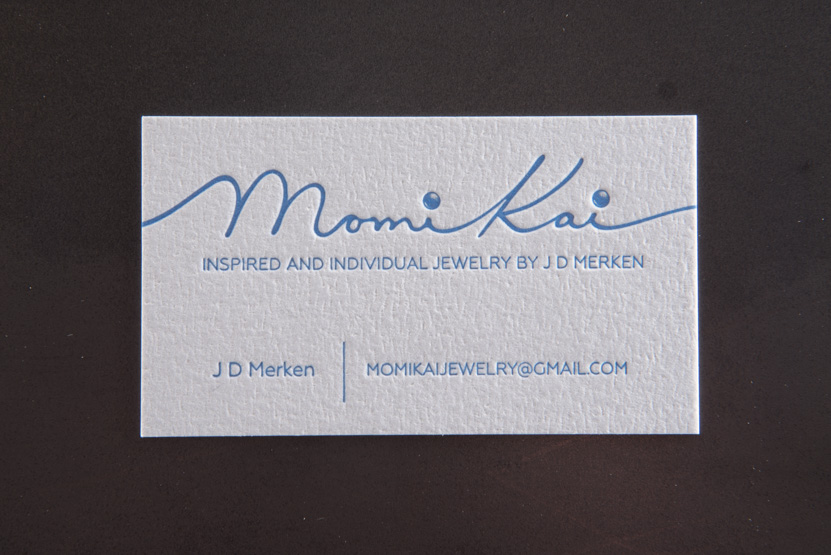 jeweler design business card printing seattle letterpress reich savoy glitter paper