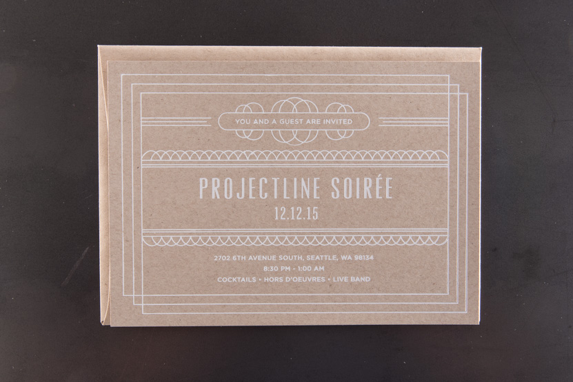 kraft paper white foil printing seattle letterpress