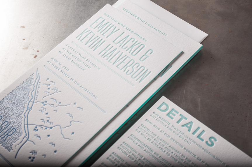 letterpress edgpainted invitations seattle designer print big sur coastal invitation