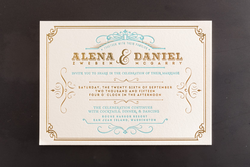 letterpress foil invitations printing desgin seattle pike street press
