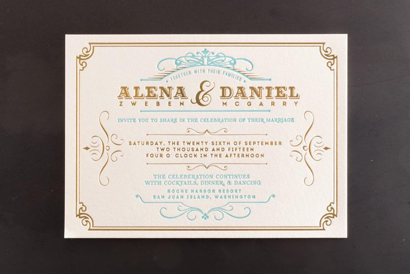 letterpress foil invitations printing desgin seattle pike street press
