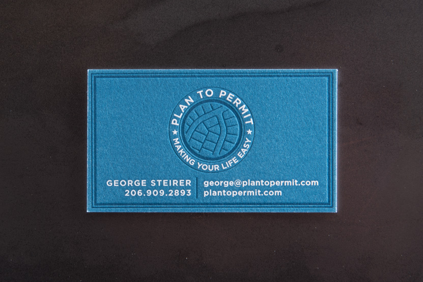 planner business cards landscape architecture printing seattle