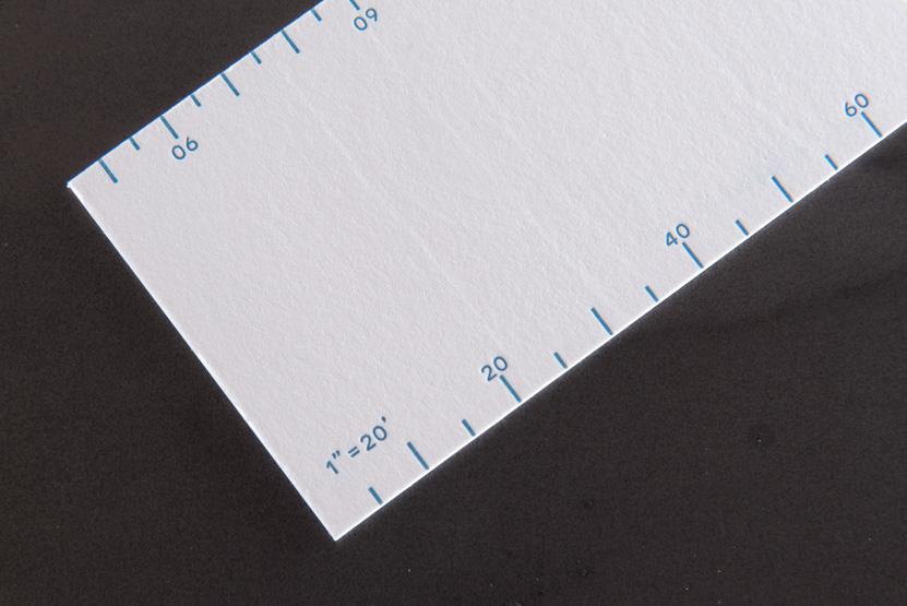 ruler business card design printing press seattle letterpress