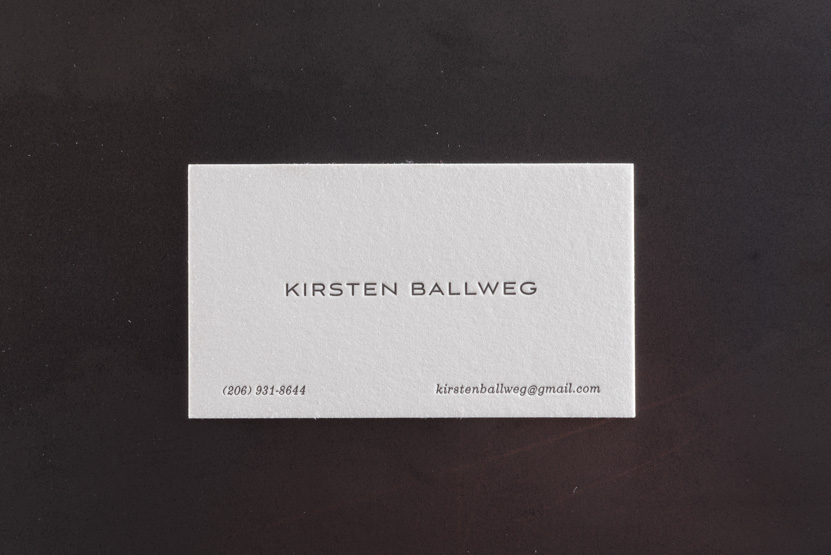simple business card printing seattle letterpress print press typesetting