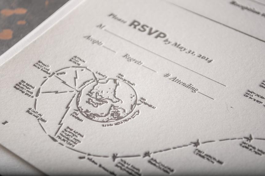 space science astronomy invitation design inspiration letterpress printed seattle designers