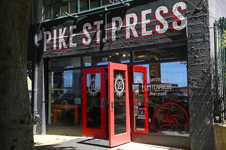 letterpress store front Seattle