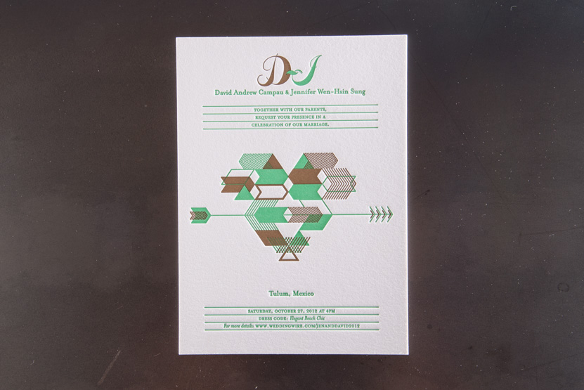 tulum wedding invitaiton design native designers seattle printing